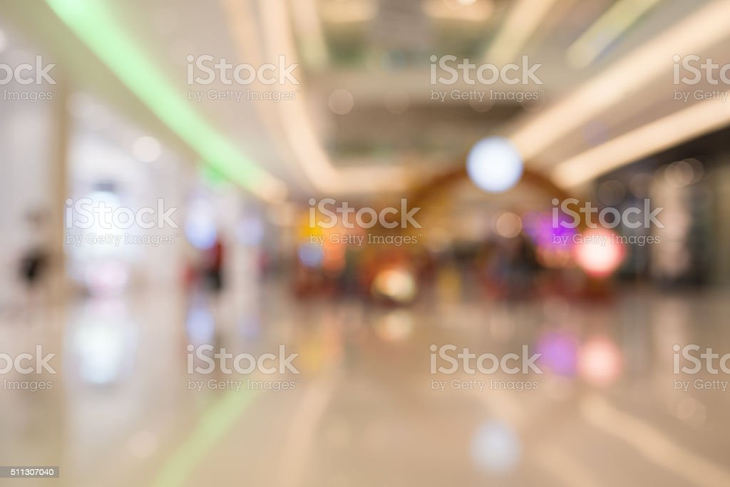 Blur People at shopping mall stock photo