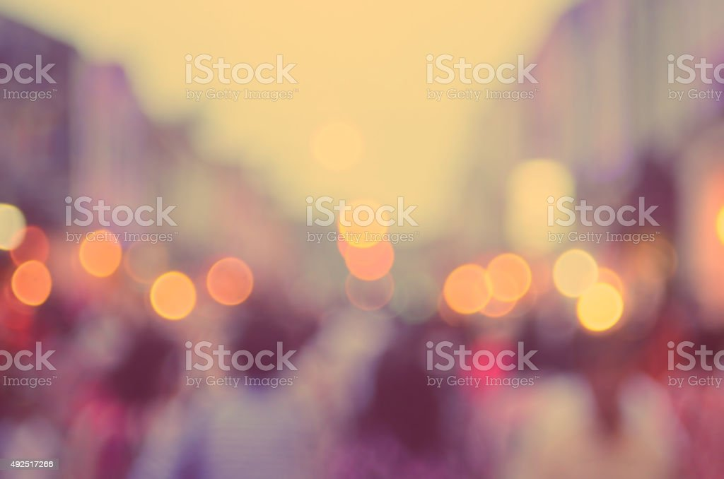 Blur people shopping in local market street abstract background. stock photo