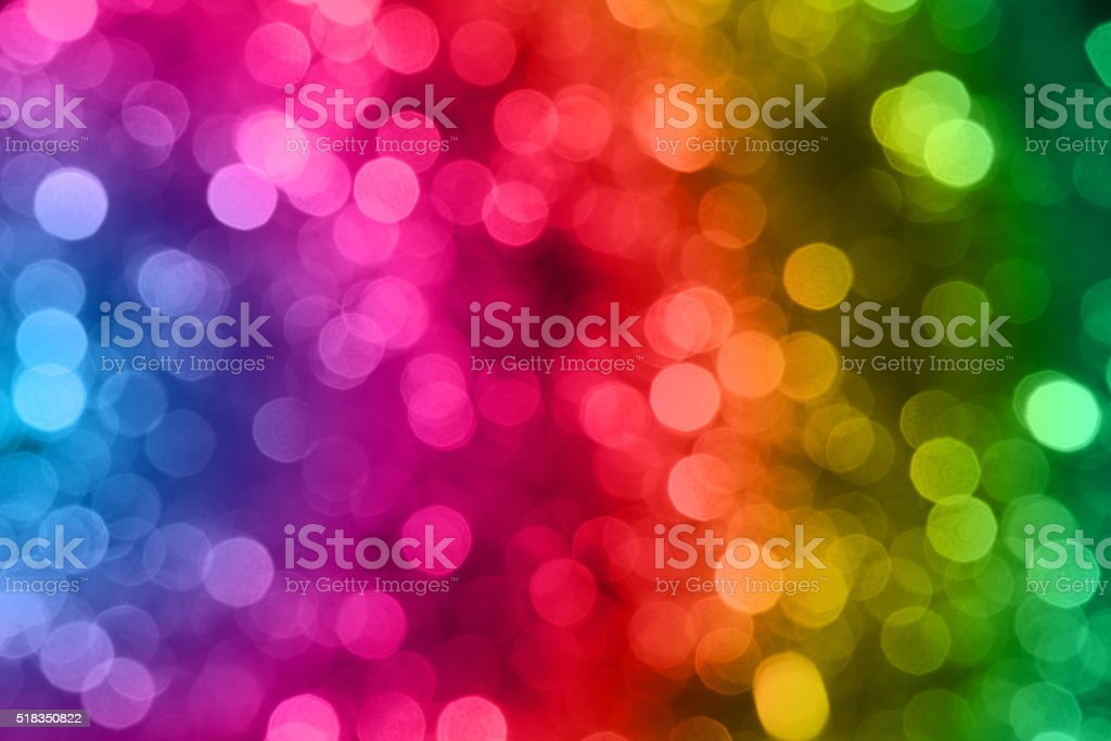 blur rainbow light from the christmas night stock photo