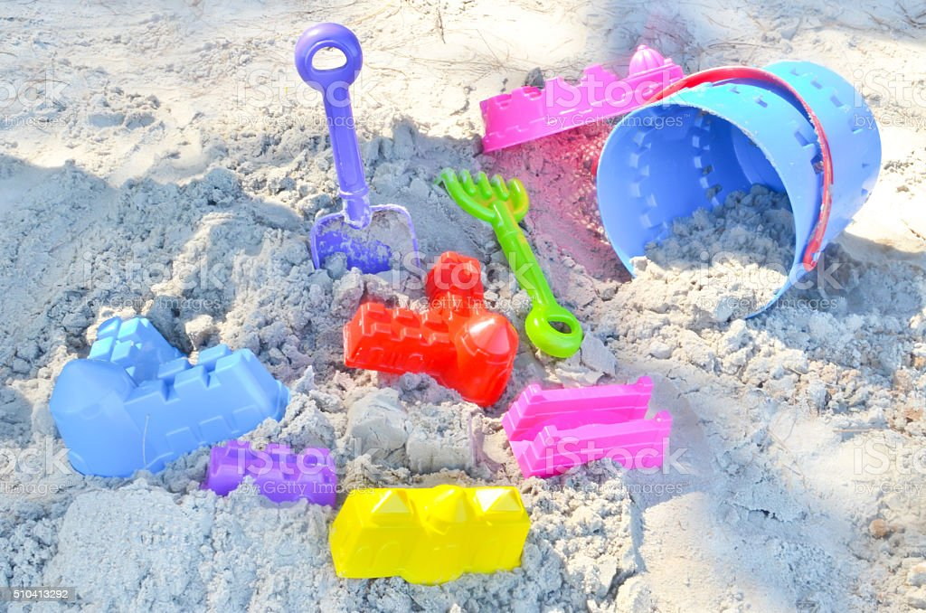 Blur sand toys backgrounds stock photo