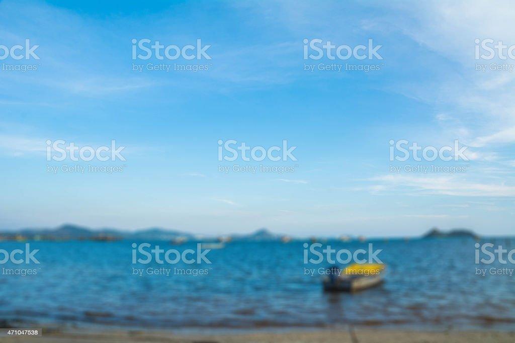blur dem Meer und die Berge Lizenzfreies stock-foto
