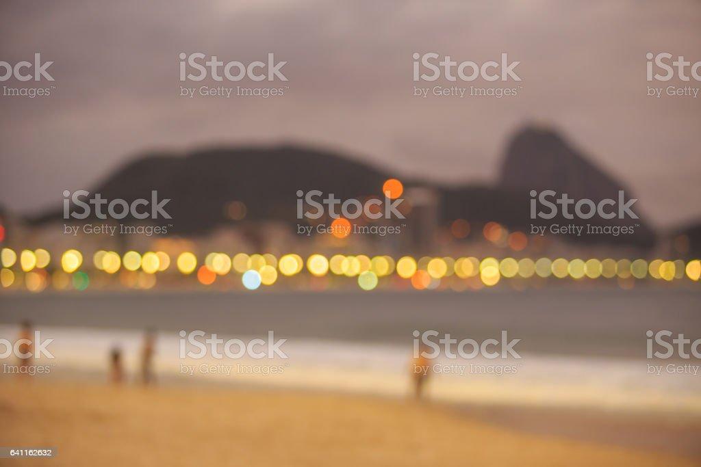 Blur shot of Copacabana beach stock photo