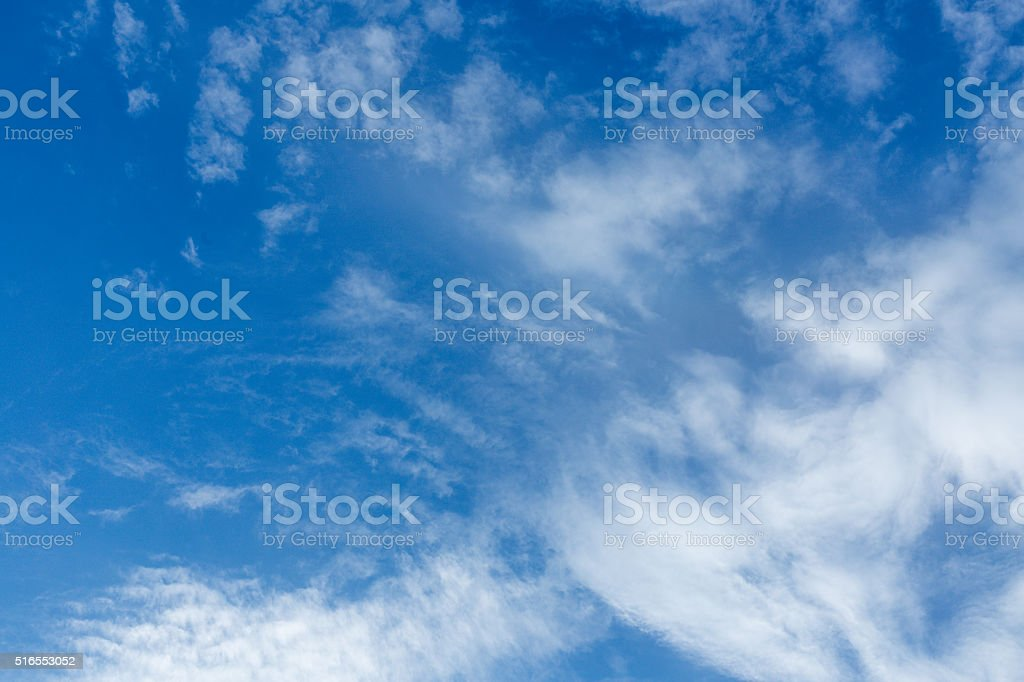 Blur sky and clouds stock photo