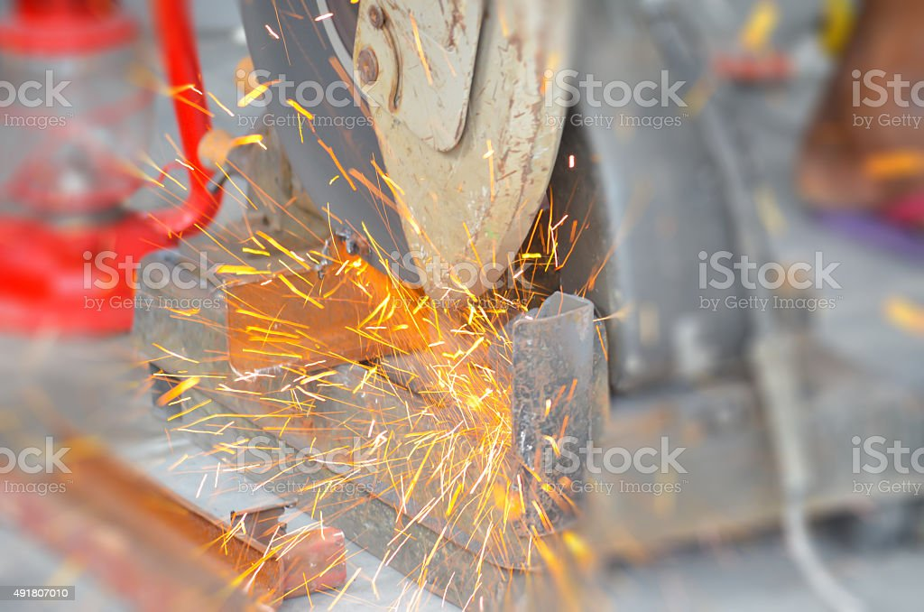 Blur steel cutting backgrounds stock photo