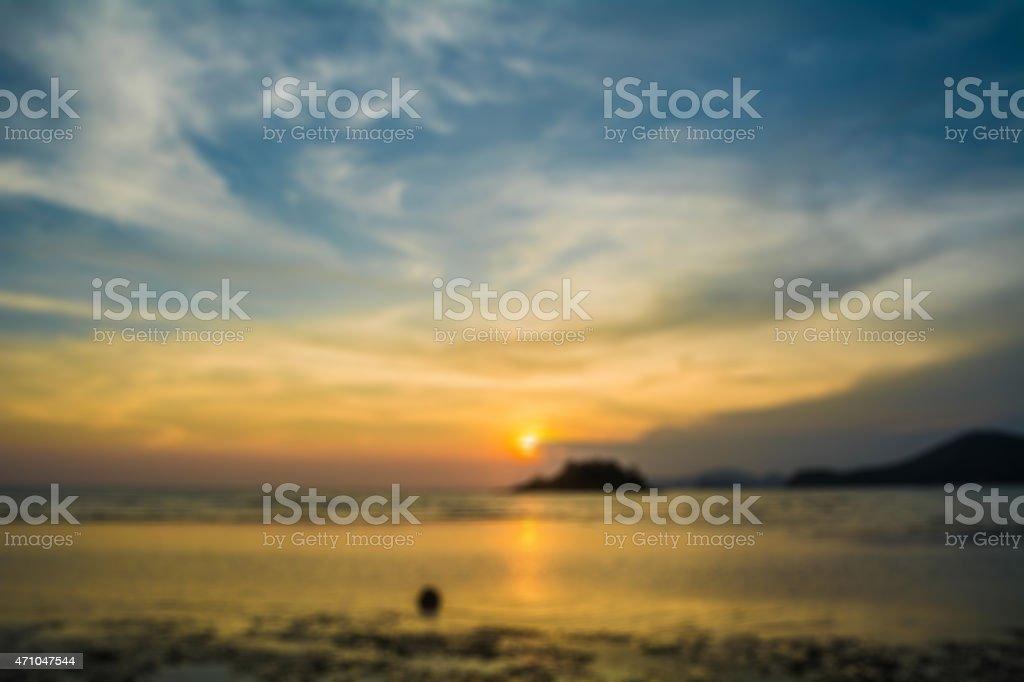 blur sunset island Lizenzfreies stock-foto