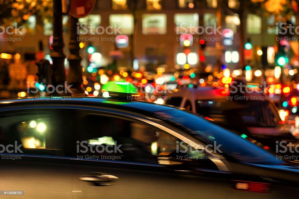 Blur Traffic at night stock photo