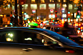 Blur Traffic at night