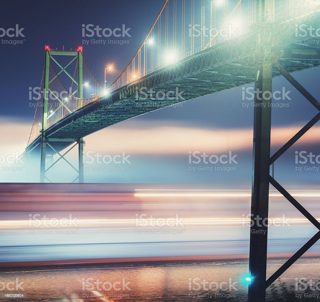 Blur Under Bridge stock photo