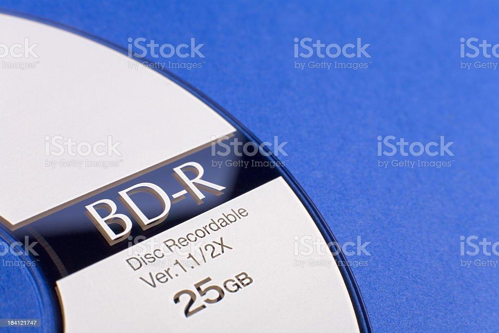 Blu-ray Disc Detail stock photo