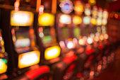 Blured slot machines in Casino