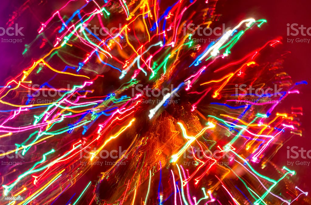 blured smas tree stock photo