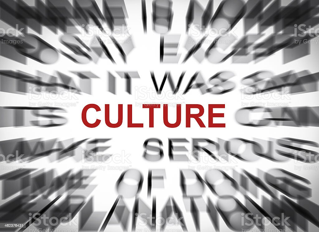 Blured text with focus on CULTURE royalty-free stock photo
