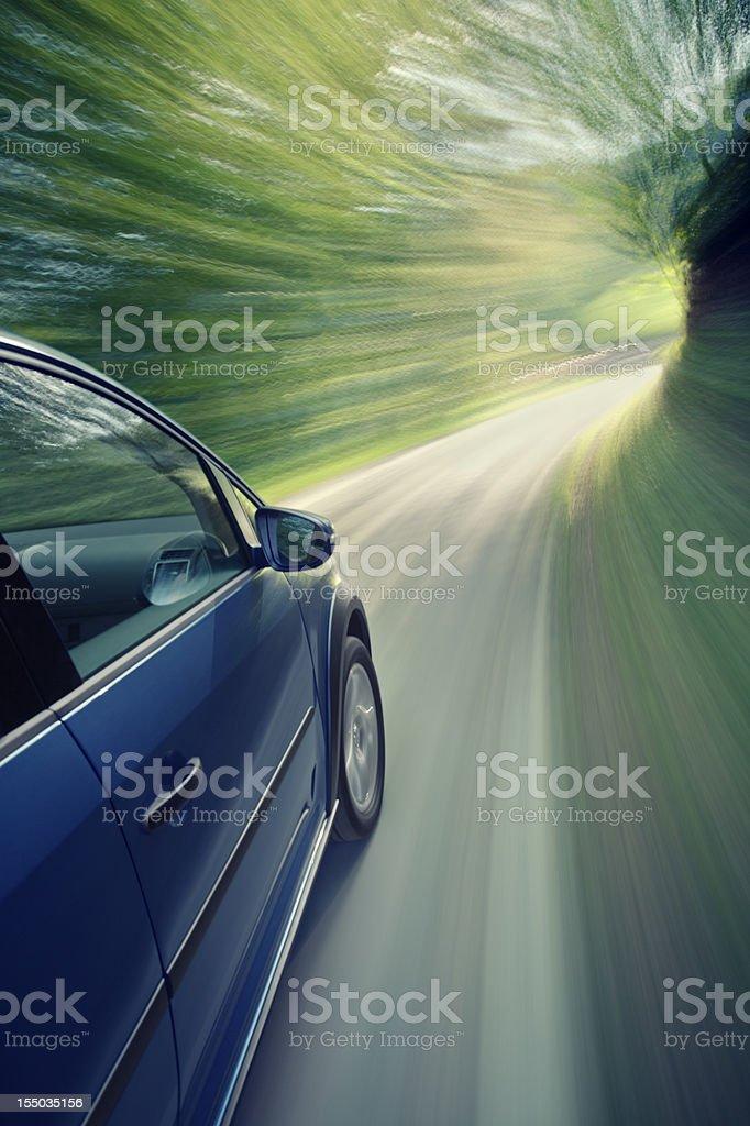 blureed motion car stock photo