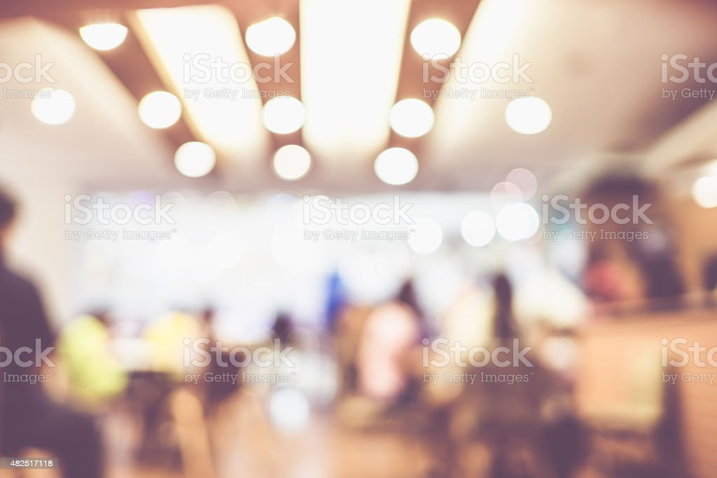 Blurred background : Customer at coffee shop blur background wit stock photo