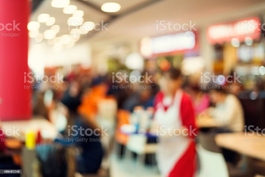 Blurred background : Customer at restaurant blur background with bokeh stock photo