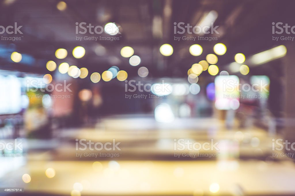 Blurred background : Customer shopping at department store with stock photo