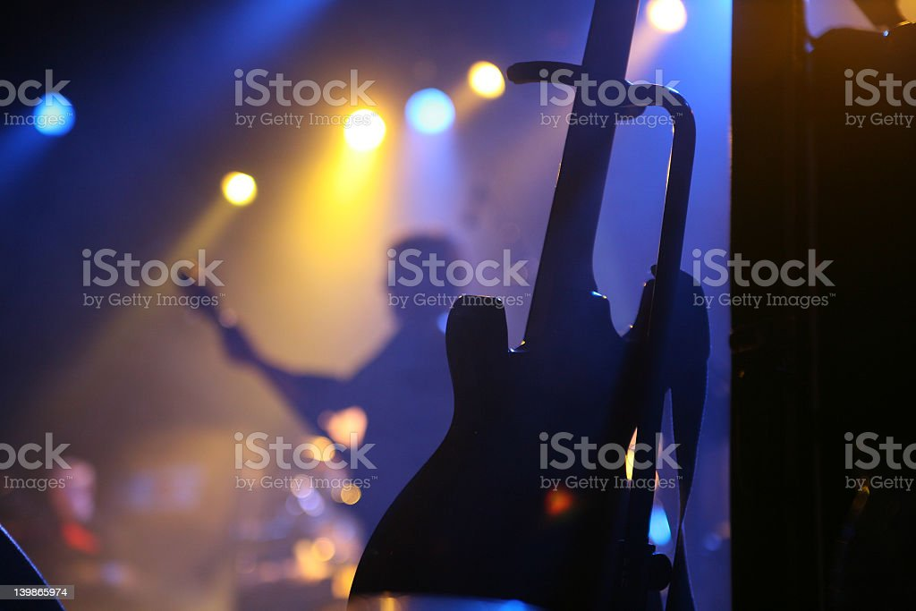 Blurred background of a rock concert stock photo