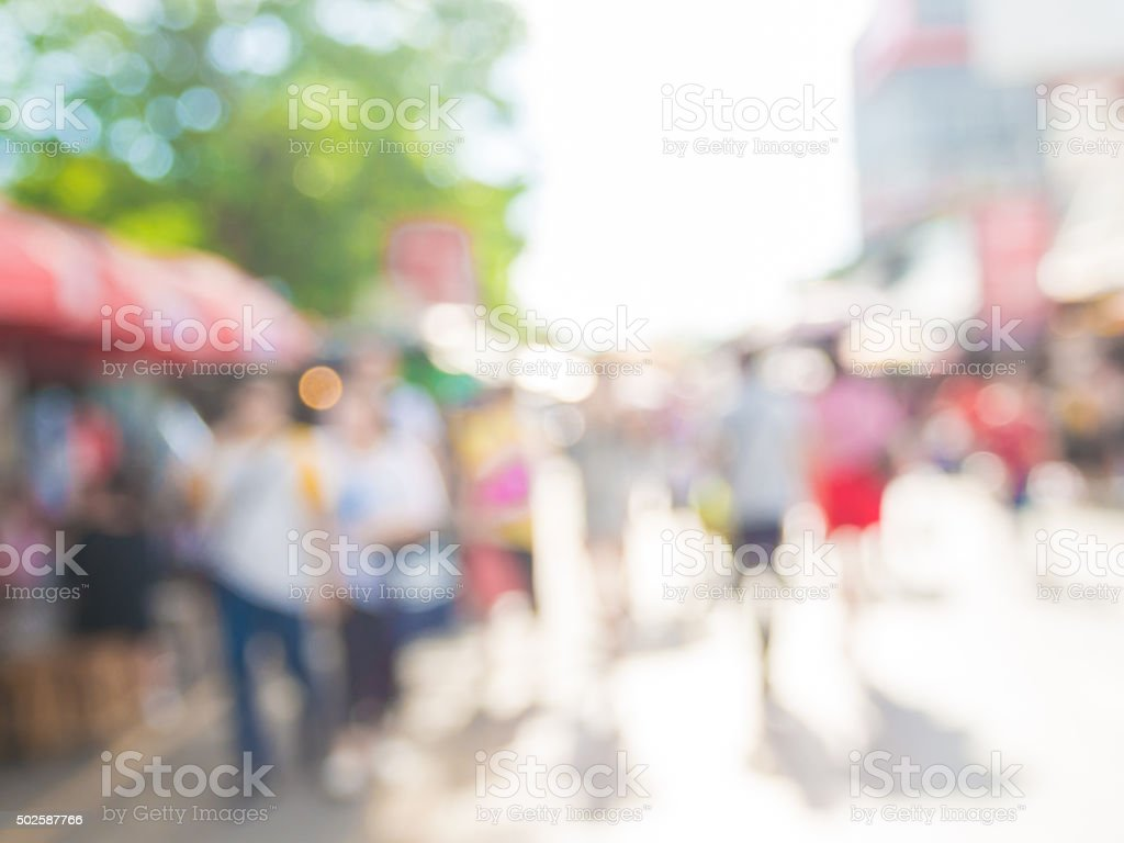 Blurred background of people shopping stock photo