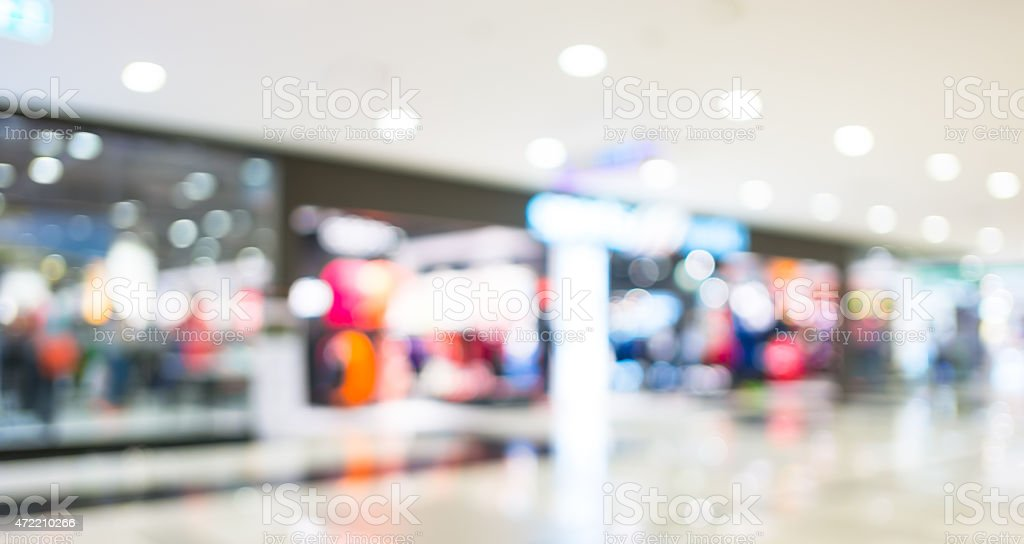 blurred background : shopping store stock photo