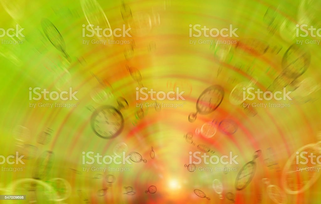 Blurred background with flying hours. Concept stock photo
