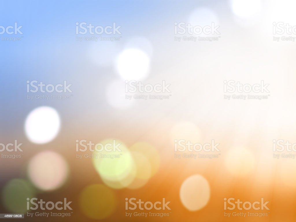 Blurred background with light circles stock photo