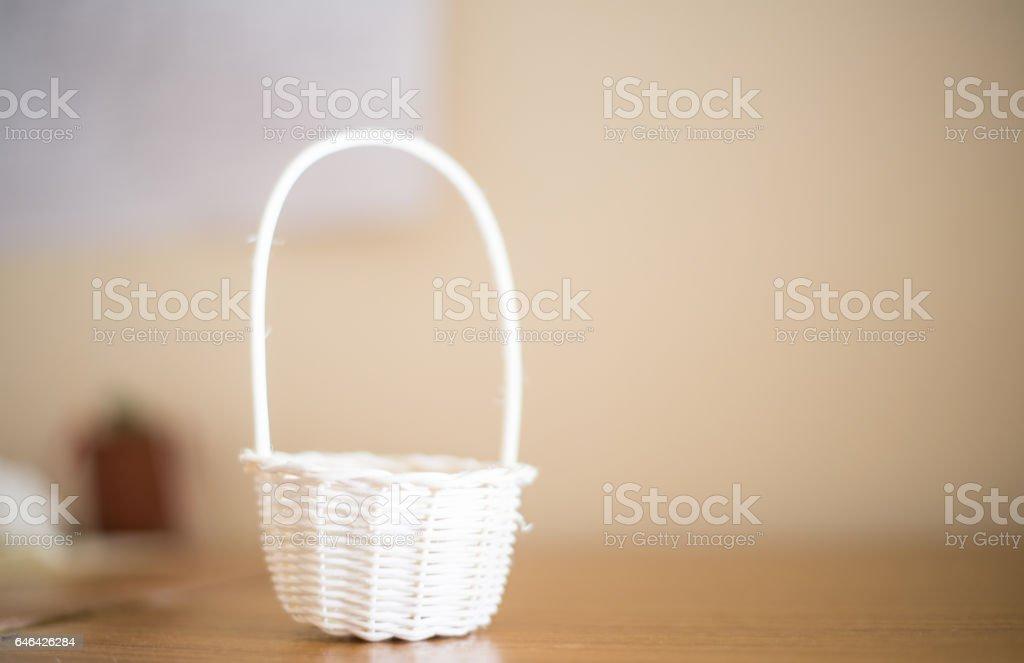 Blurred bamboo basket stock photo