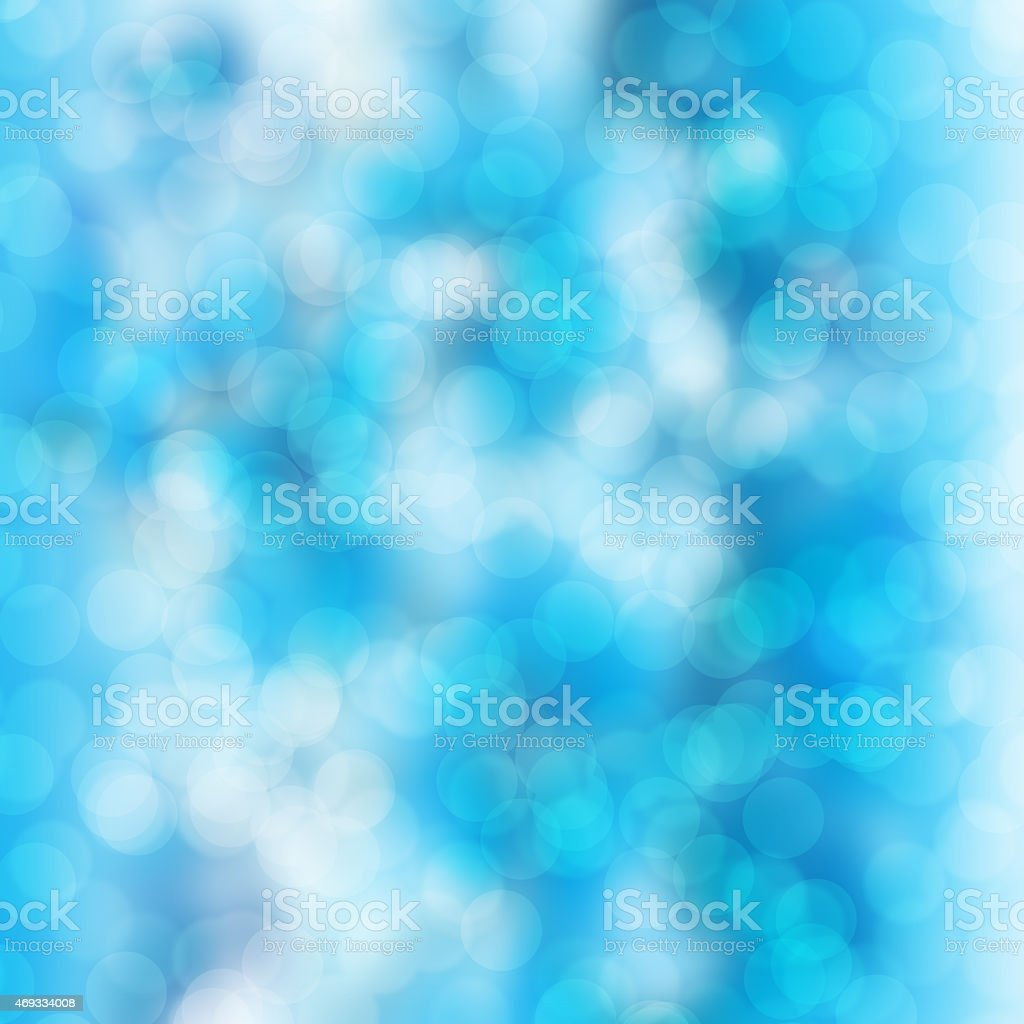 Blurred blue and white bokeh background stock photo