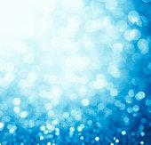 Blurred blue sparkles