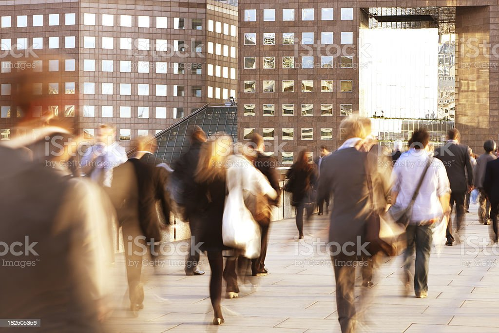 Blurred Business Commuters royalty-free stock photo
