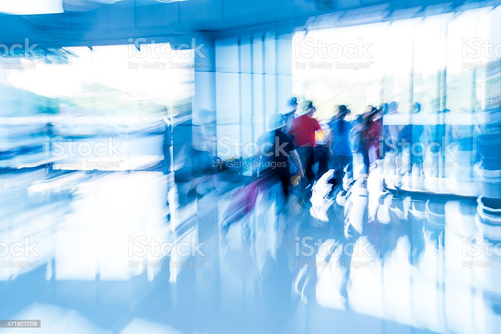 Blurred business people crowd royalty-free stock photo
