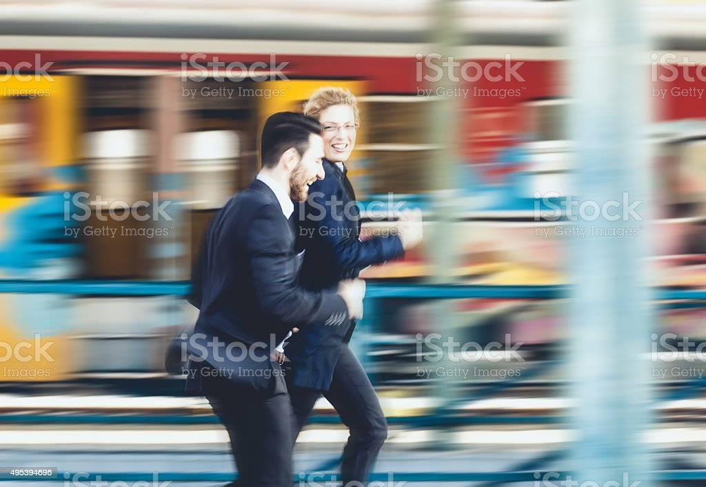 Blurred business stock photo