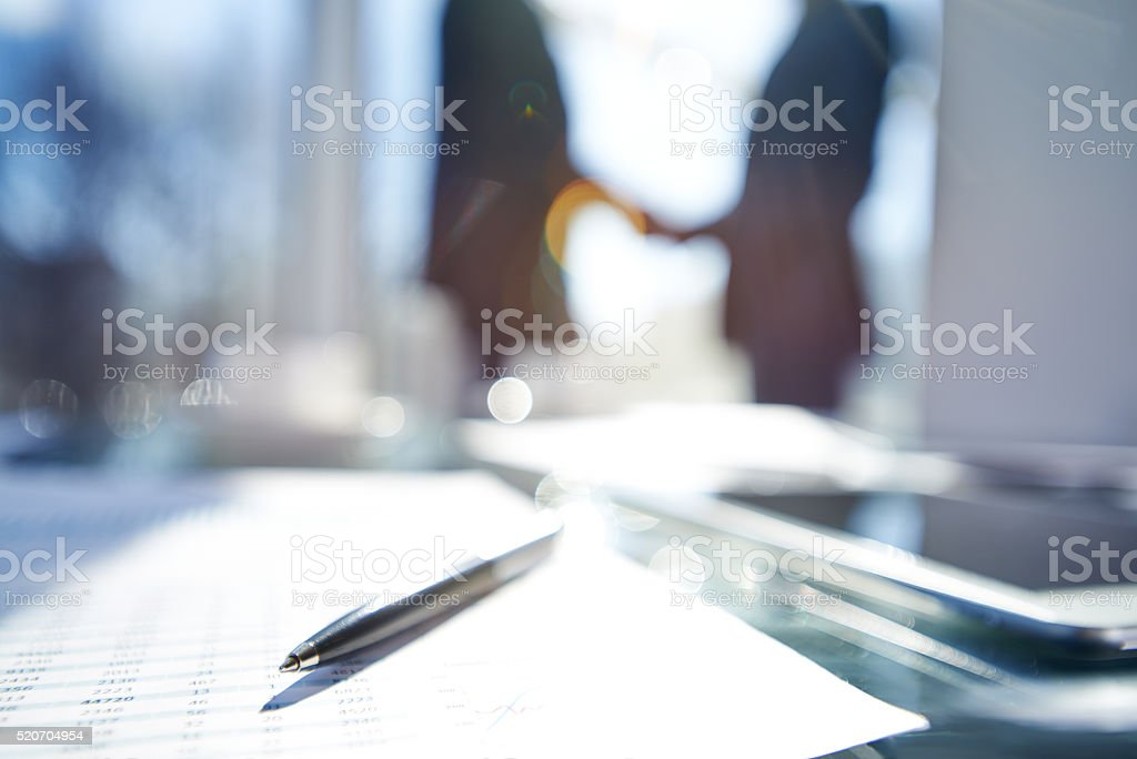 Blurred business success stock photo