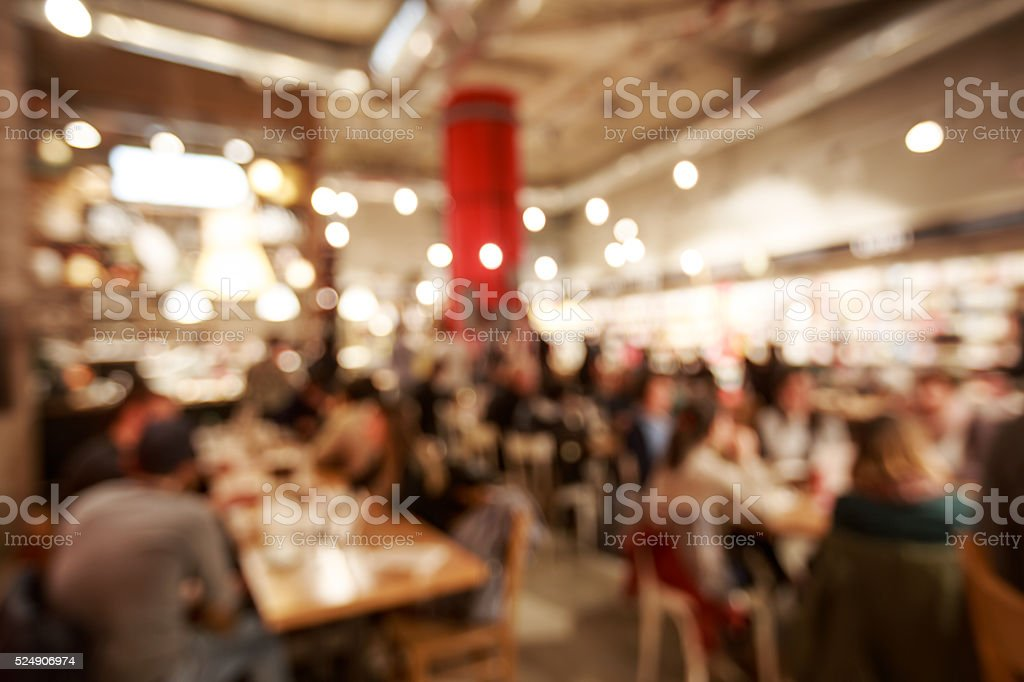Blurred cafe or coffee shop stock photo