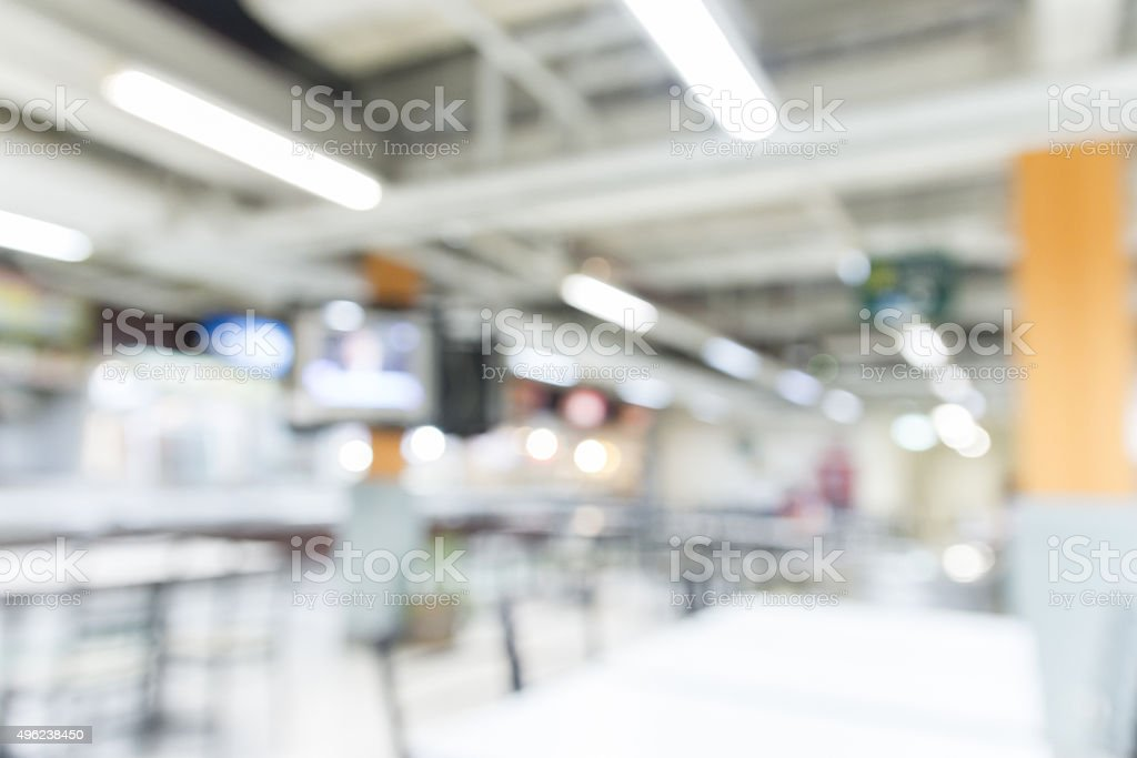 blurred cafeteria background stock photo