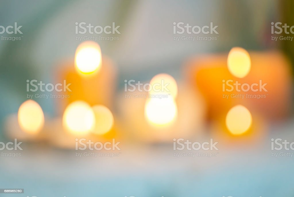 Blurred candle lights stock photo