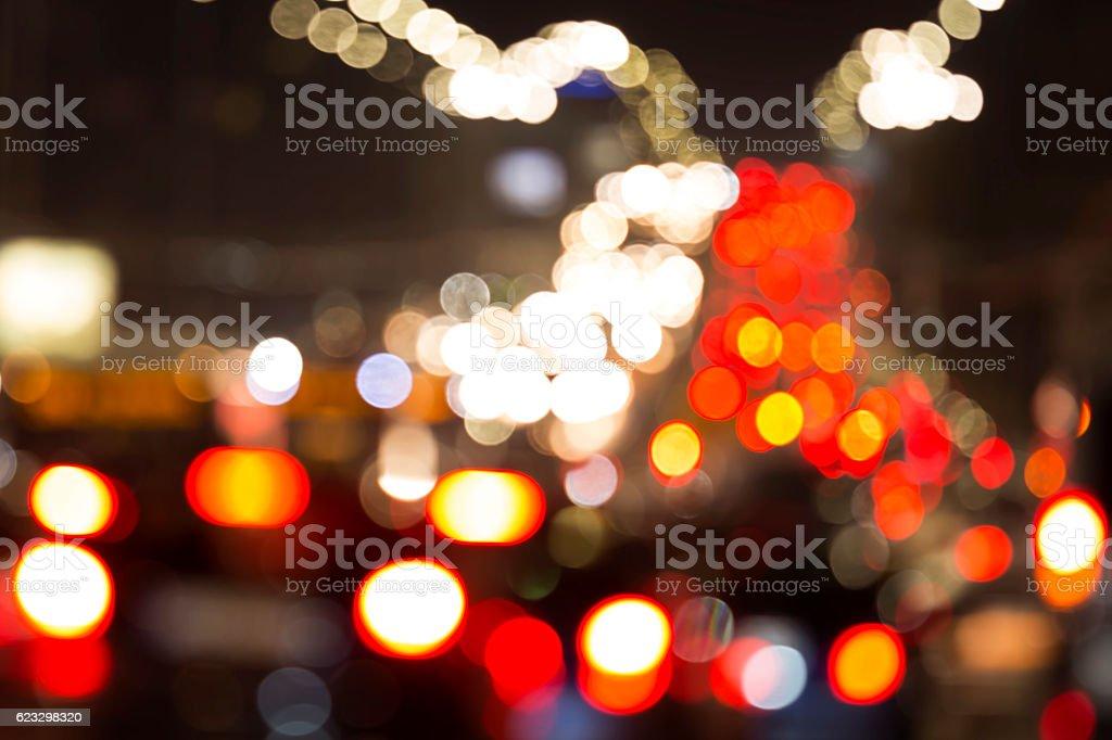 Blurred car lights stock photo