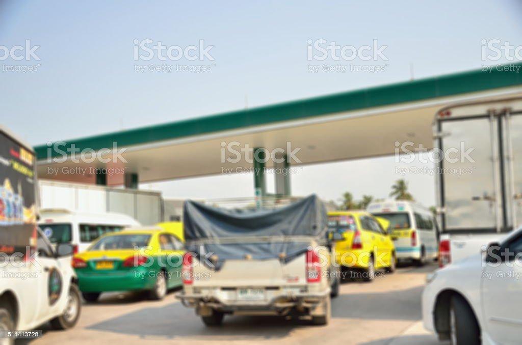 blurred car queue stock photo