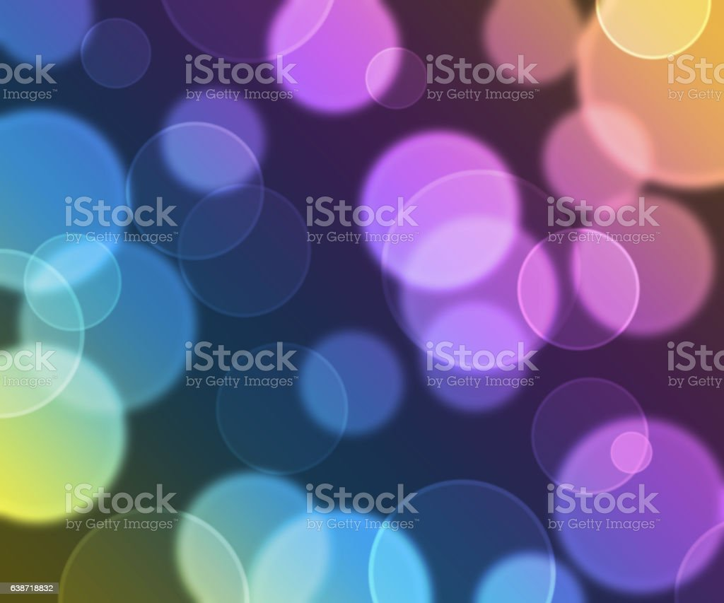 blurred circles on blue and purple vector art illustration