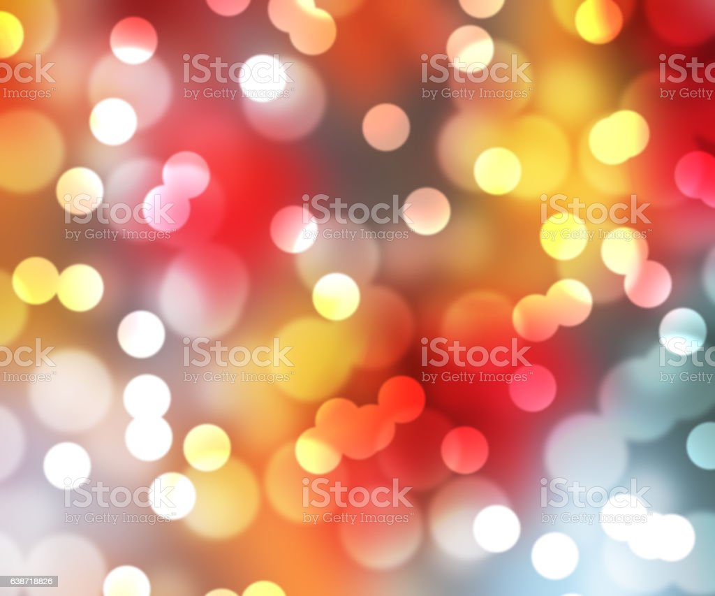 blurred circles on red and yellow vector art illustration