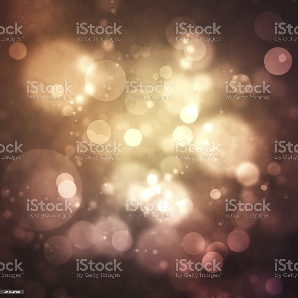 Blurred circular lights against a dark background stock photo