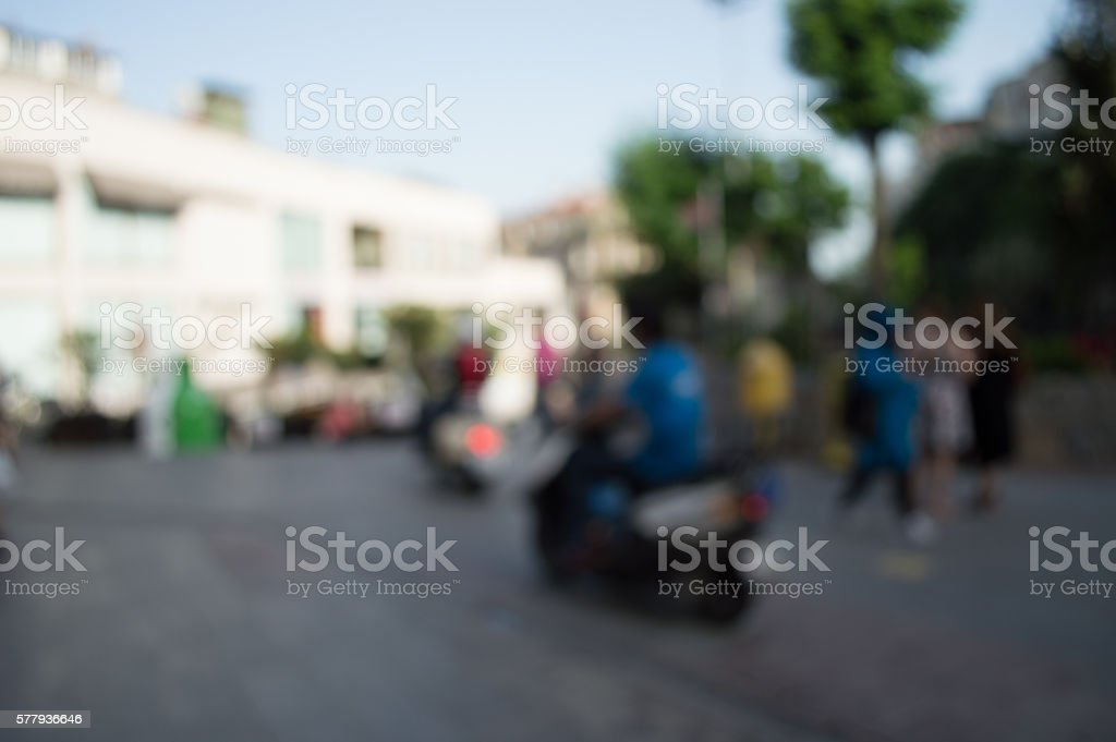 Blurred City and People stock photo