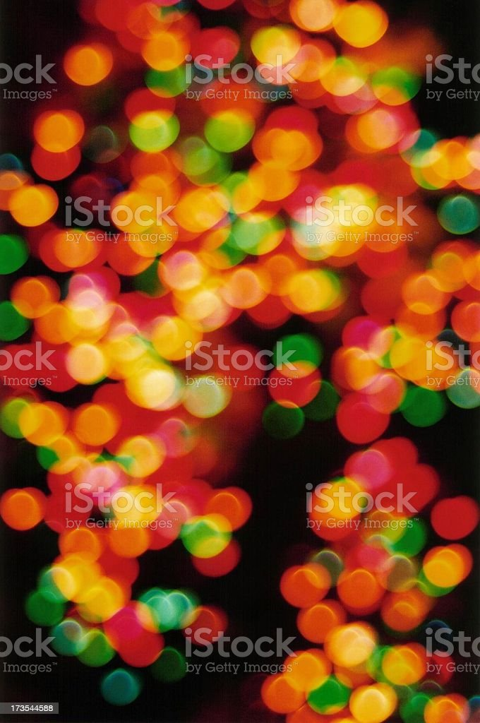 blurred coloured night lights royalty-free stock photo
