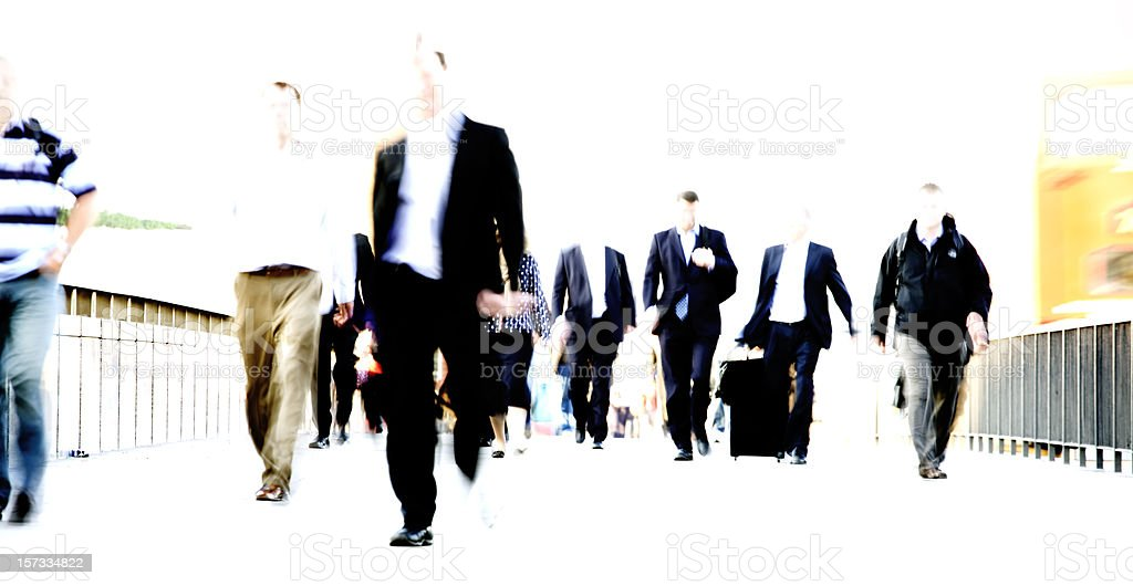 Blurred commute royalty-free stock photo