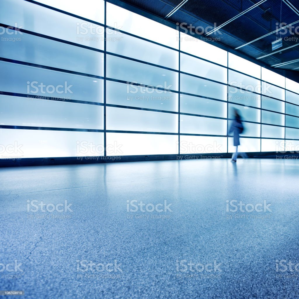 blurred commuter royalty-free stock photo