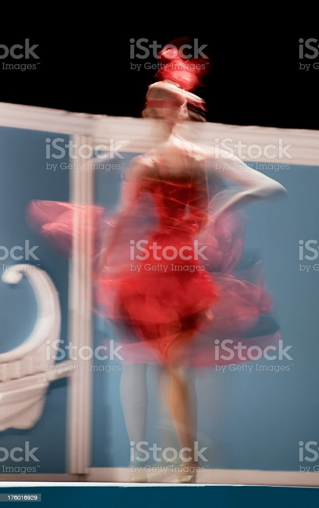 Blurred dancer royalty-free stock photo