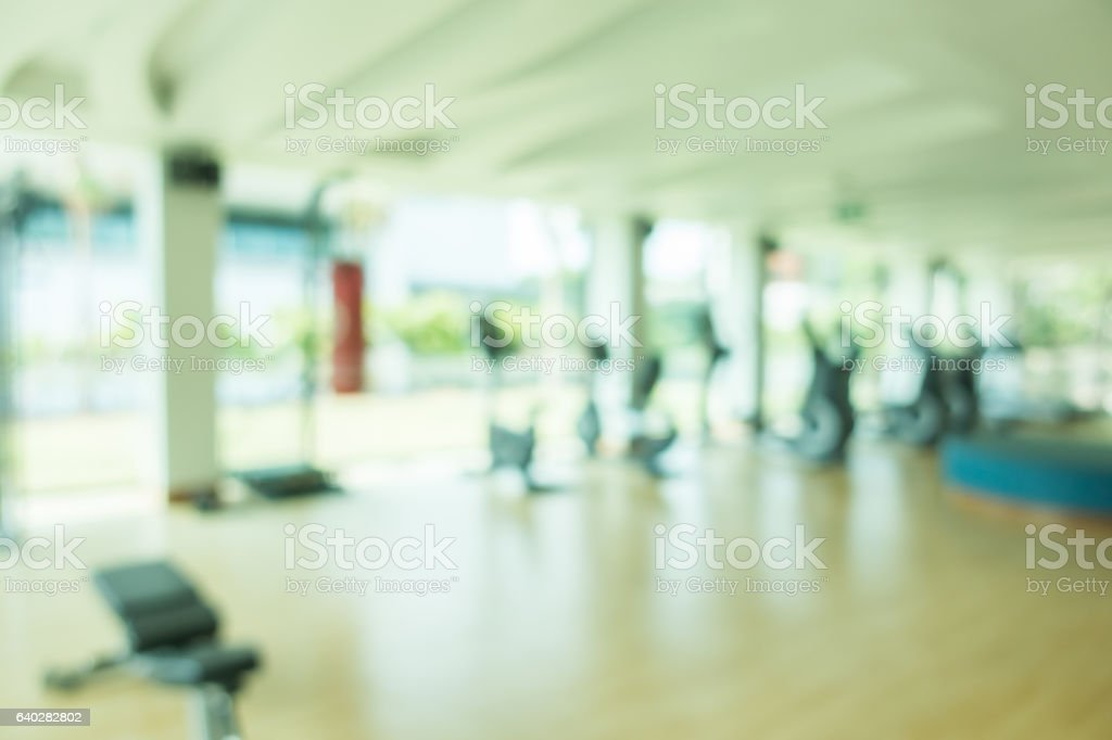Blurred fitness gym stock photo