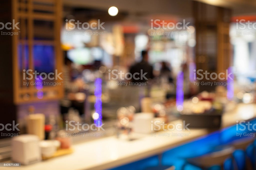 Blurred food court background stock photo