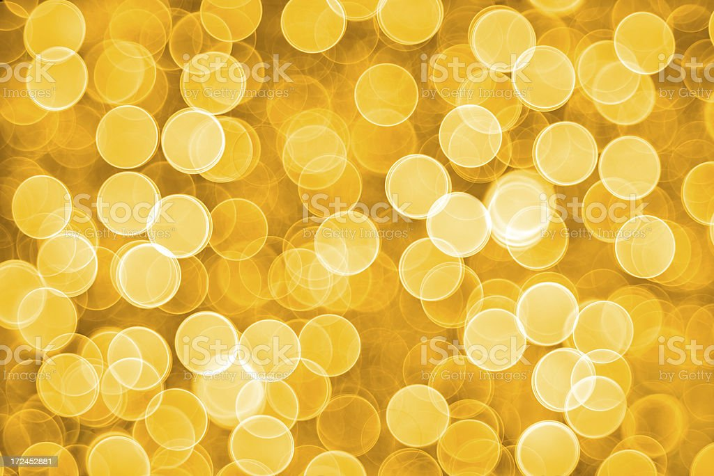Blurred gold sparkles royalty-free stock photo