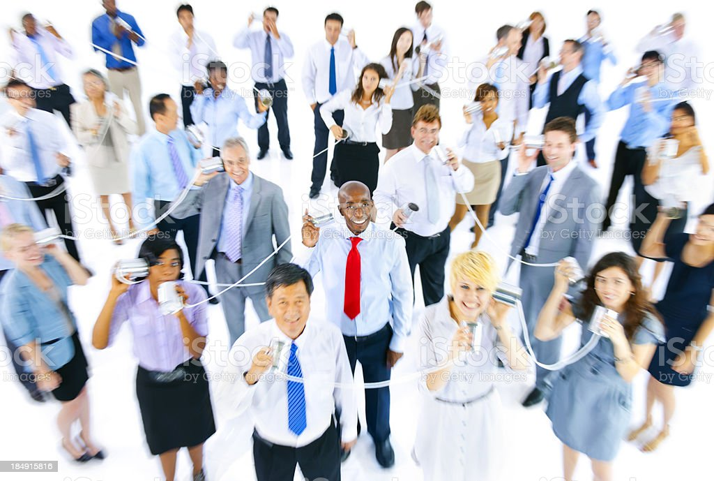 Blurred Group of multi-ethnic business people communicating royalty-free stock photo