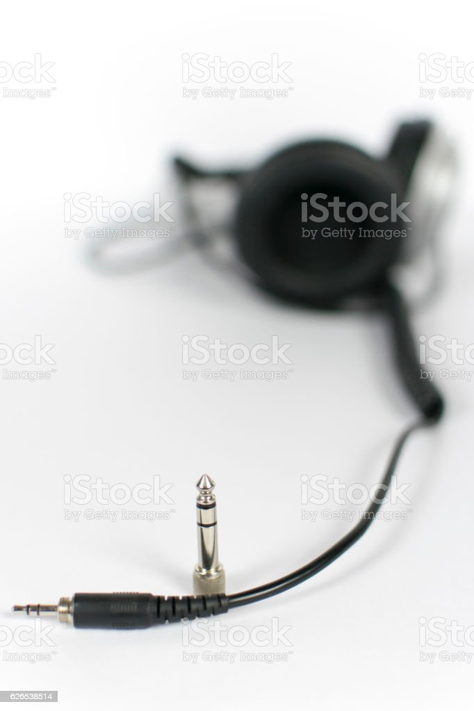 Blurred headphones stock photo
